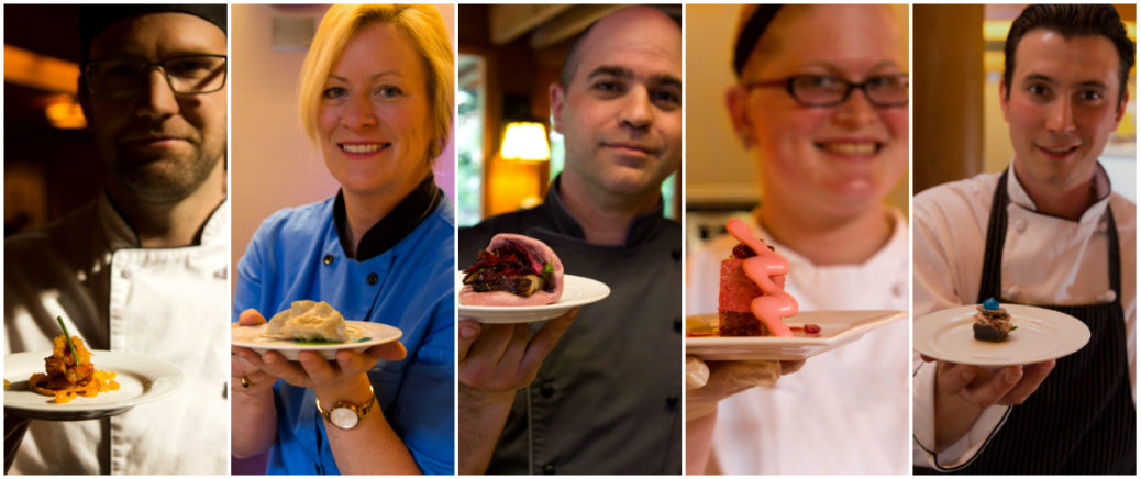 Chefs present their colourful canapes for Colour Your Palate.